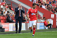 Nigel Adkins Manager of Charlton Athletic FC  during Charlton Athletic vs Cheltenham Town, Sky Bet EFL League 1 Football at The Valley on 11th September 2021