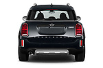 Straight rear view of 2021 MINI Countryman Cooper-Northwood 5 Door SUV Rear View  stock images