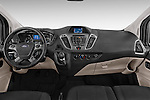 Stock photo of straight dashboard view of a 2013 Ford TOURNEO CUSTOM TITANIUM 5 Door Combi Dashboard