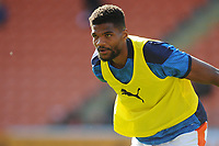 Blackpool's Michael Nottingham during the pre-match warm-up <br /> <br /> Photographer Kevin Barnes/CameraSport<br /> <br /> The EFL Sky Bet League One - Blackpool v Swindon Town - Saturday 19th September 2020 - Bloomfield Road - Blackpool<br /> <br /> World Copyright © 2020 CameraSport. All rights reserved. 43 Linden Ave. Countesthorpe. Leicester. England. LE8 5PG - Tel: +44 (0) 116 277 4147 - admin@camerasport.com - www.camerasport.com