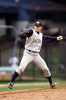 Chuck Crowder of the Georgia Tech Yellow Jackets during a NCAA baseball game against the UCLA Bruins at UCLA circa 1999 in Los Angeles, California. (Larry Goren/Four Seam Images)