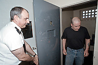 Prisoner being released from his prison cell by the custody sergeant. This image may only be used to portray the subject in a positive manner..©shoutpictures.com..john@shoutpictures.com
