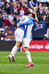 Players of CD Leganes celebrate goal