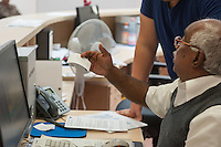 """Die """"Zentrale Aufnahmeeinrichtung des Landes Berlin fuer Asylbewerber"""" (ZAA) des Berliner Landesamt fuer Gesundheit und Soziales (LaGeSo) in der Turmstrasse 21 in Berlin-Moabit. Hier werden alle in Berlin ankommenden Fluechtlinge registriert und bekommen eine Erstversorgung. In dieser Erstaufnahmestelle werden sie auf die vom Land bereitgestellten Unterkuenfte verteilt.<br /> Im Bild: Eine Wartenummer.<br /> 24.9.2014, Berlin<br /> Copyright: Christian-Ditsch.de<br /> [Inhaltsveraendernde Manipulation des Fotos nur nach ausdruecklicher Genehmigung des Fotografen. Vereinbarungen ueber Abtretung von Persoenlichkeitsrechten/Model Release der abgebildeten Person/Personen liegen nicht vor. NO MODEL RELEASE! Don't publish without copyright Christian-Ditsch.de, Veroeffentlichung nur mit Fotografennennung, sowie gegen Honorar, MwSt. und Beleg. Konto: I N G - D i B a, IBAN DE58500105175400192269, BIC INGDDEFFXXX, Kontakt: post@christian-ditsch.de<br /> Urhebervermerk wird gemaess Paragraph 13 UHG verlangt.]"""