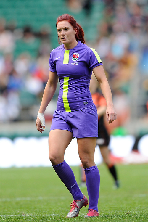 JoanneWatmore of England during the iRB Marriott London Sevens at Twickenham on Sunday 13th May 2012 (Photo by Rob Munro)