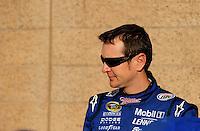 Feb 20, 2009; Fontana, CA, USA; NASCAR Sprint Cup Series driver Kurt Busch during qualifying for the Auto Club 500 at Auto Club Speedway. Mandatory Credit: Mark J. Rebilas-