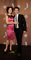 Montreal (Qc) CANADA - Sept 14, 2008 - <br /> <br /> Helene Bourgeois-Leclerc, Eric Salvail,<br /> <br /> 2008 Gemeaux Gala rewarding French-Canadian television.