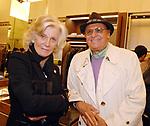 RENZO ARBORE CON MARINA CICOGNA<br /> APERTURA STORE FAY A FONTANELLA BORGHESE ROMA 10/2008