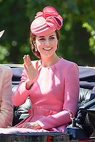 Catherine Duchess of Cambridge<br /> during Trooping the Colour on The Mall, London. <br /> <br /> <br /> ©Ash Knotek  D3283  17/06/2017