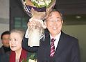 Former U.N. Secretary-General Ban Ki-moon arrives in Incheon airport