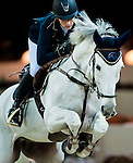 Katharina Offel of Ukraine riding Charlie competes at the HKJC Trophy during the Longines Hong Kong Masters 2015 at the AsiaWorld Expo on 13 February 2015 in Hong Kong, China. Photo by Xaume OIleros / Power Sport Images