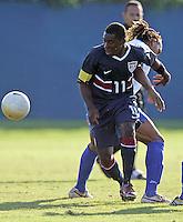 Freddy Adu eyes the ball at the U.S. Under 20 Men's National Team Training Camp in Sunrise, FL, October 8-12 2006.