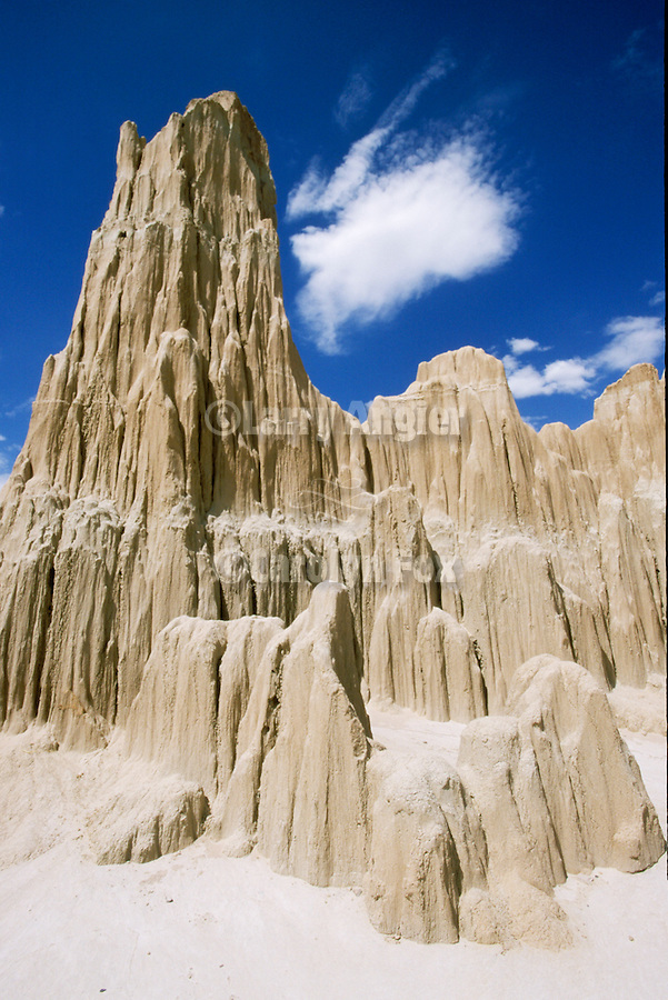 Clouds and mud spires, Cathedral Gorge State Park, Nev.