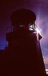 Silloutte of Cape Mears Lighthouse on the Oregon Coast near Tillamook.