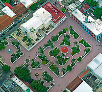 aerial photograph of a church and plaza in Veracruz, Mexico | fotografía aérea de una iglesia y plaza en Veracruz, México