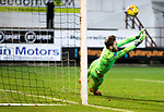 Dunfermline v St Johnstone…15.12.20   East End Park      BetFred Cup<br />Zander Clark saves Kevin O'Hara's penalty to send saints through to the semi's<br />Picture by Graeme Hart.<br />Copyright Perthshire Picture Agency<br />Tel: 01738 623350  Mobile: 07990 594431