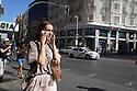 Gran Via in Madrid in Spain