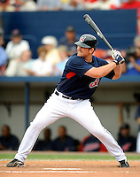 11 March 2008: Cleveland Indians' infielder Beau Mills at bat during a Spring Training game against the Detroit Tigers at Chain of Lakes Park, in Winter Haven Florida. The Tigers rallied to defeat the Indians 4-2 in the Grapefruit League matchup...Mandatory Photo Credit: Ed Wolfstein Photo