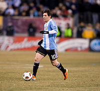 Lionel Messi. The USMNT tied Argentina, 1-1, at the New Meadowlands Stadium in East Rutherford, NJ.