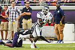 Jackson State Tigers Jevon Floyd (11) in action during the game between the Jackson State Tigers and the TCU Horned Frogs at the Amon G. Carter Stadium in Fort Worth, Texas.