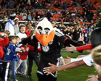 Talon, mascot of D.C. United  during an MLS match against the Los Angeles Galaxy at RFK Stadium, on April 9 2011, in Washington D.C. The game ended in a 1-1 tie.