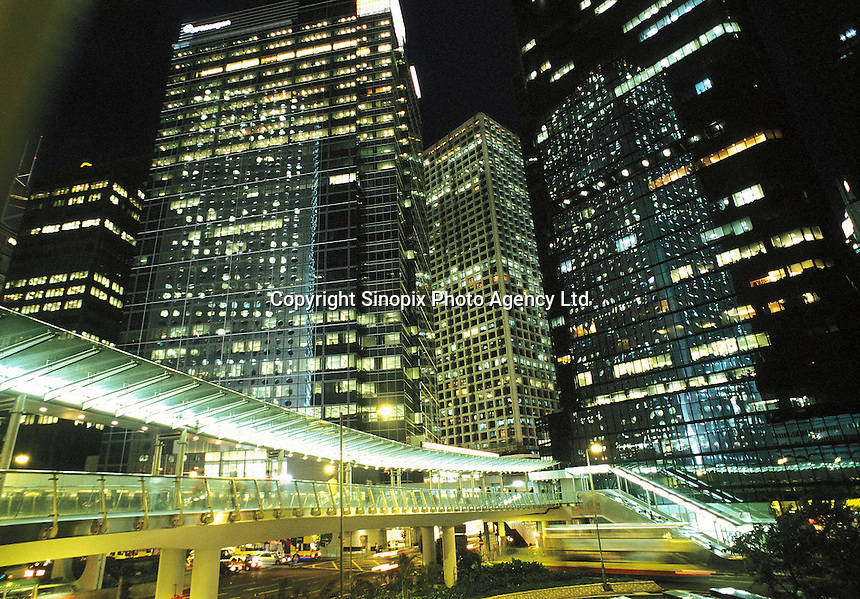 The main commercial district in Central, Hong Kong..