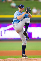 Wilmington Blue Rocks starting pitcher Sam Selman (31) in action against the Winston-Salem Dash at BB&T Ballpark on August 3, 2013 in Winston-Salem, North Carolina.  The Blue Rocks defeated the Dash 4-2.  (Brian Westerholt/Four Seam Images)