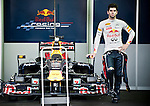 Red Bull Toro Rosso driver Jaime Alguersuari in the garage before participating in the Red Bull Dragon Run 2011 in Hong Kong, China on the 18th June 2011.
