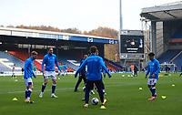 7th November 2020; Ewood Park, Blackburn, Lancashire, England; English Football League Championship Football, Blackburn Rovers versus Queens Park Rangers; Blackburn players warm up prior to the match