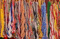 Nepal, Patan.  Bead Necklaces for Sale, Durbar Square.