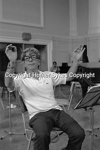 Elmer Berstein rehearsals Royal Philharmonic Orchestra London 1976