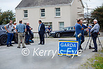 Media at the scene of a suspected Murder suicide at Ballyreehan, Lixnaw on Wednesday.