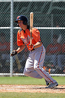 Baltimore Orioles Glynn Davis #1 during a minor league spring training game against the Minnesota Twins at the Buck O'Neil Complex on March 19, 2012 in Sarasota, Florida.  (Mike Janes/Four Seam Images)