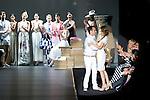 02.09.2012. Models walk the runway in the Ion Fiz fashion show during the Mercedes-Benz Fashion Week Madrid Spring/Summer 2013 at Ifema. In the image Ion Fiz, Raquel Sanchez Silva and Carmen Lomana  (Alterphotos/Marta Gonzalez)