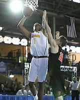 JOINT BASE PEARL HARBOR-HICKAM, HI - December 6, 2016: Cal Bears Men's Basketball team vs. the Princeton Tigers in the FS1 Pearl Harbor Invitational at Bloch Arena.  Final score, Cal Bears 62, Princeton Tigers 51.