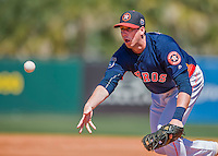 15 March 2016: Houston Astros infielder Matt Duffy in action during a Spring Training pre-season game against the Washington Nationals at Osceola County Stadium in Kissimmee, Florida. The Astros fell to the Nationals 6-4 in Grapefruit League play. Mandatory Credit: Ed Wolfstein Photo *** RAW (NEF) Image File Available ***
