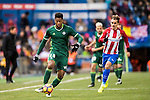 Petros Matheus dos Santos Araujo of Real Betis Balompie is followed by Antoine Griezmann of Atletico de Madrid during their La Liga 2016-17 match between Atletico de Madrid vs Real Betis Balompie at the Vicente Calderon Stadium on 14 January 2017 in Madrid, Spain. Photo by Diego Gonzalez Souto / Power Sport Images