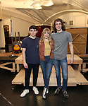 """Jonny Amies, Erika Olson and Conor Ryan during the Sneak Peak Meet the cast and creative team of the World Premiere production of """"My Very Own British Invasion"""" on January 16, 2019 at the Church of Saint Paul The Apostle in New York City."""
