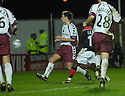 13/11/2006       Copyright Pic: James Stewart.File Name :sct_jspa12_falkirk_v_hearts.RUSSELL LATAPY SCORES FALKIRK'S GOAL.James Stewart Photo Agency 19 Carronlea Drive, Falkirk. FK2 8DN      Vat Reg No. 607 6932 25.Office     : +44 (0)1324 570906     .Mobile   : +44 (0)7721 416997.Fax         : +44 (0)1324 570906.E-mail  :  jim@jspa.co.uk.If you require further information then contact Jim Stewart on any of the numbers above.........