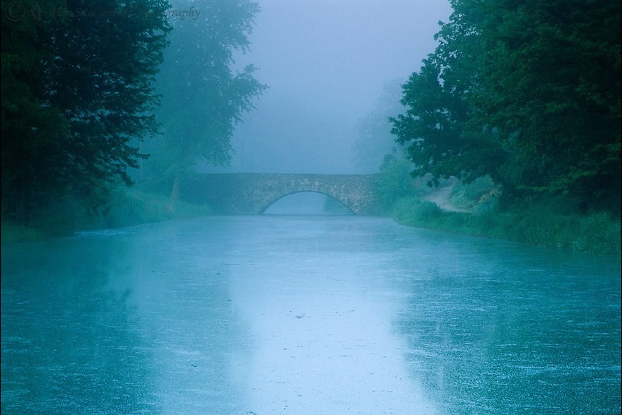 """Morning Mist on the Canal""<br />