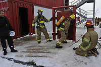 January 28,2012 - Montreal (Quebec) CANADA  - Firemen training academy