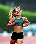 Chloe Brown, St Cuthberts, 3000m Senior Girls, St Cuthberts, 3000m Senior Girls. Auckland Secondary Schools Athletic Championships, Mt Smart Stadium, Auckland, Tuesday 30 March 2021. Photo: Simon Watts/www.bwmedia.co.nz