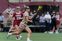 NEWTON, MA - MAY 16: Cara Urbank #26 of Boston College on the attack during NCAA Division I Women's Lacrosse Tournament second round game between Temple University and Boston College at Newton Campus Lacrosse Field on May 16, 2021 in Newton, Massachusetts.