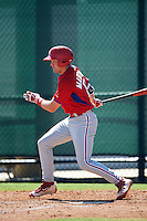 Philadelphia Phillies David Martinelli (17) during an Instructional League game against the Toronto Blue Jays on October 1, 2016 at the Carpenter Complex in Clearwater, Florida.  (Mike Janes/Four Seam Images)