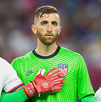 DALLAS, TX - JULY 25: Matt Turner #1 of the United States during a game between Jamaica and USMNT at AT&T Stadium on July 25, 2021 in Dallas, Texas.