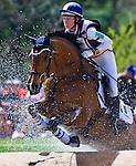 April 26, 2014: BALLYLAFFIN BRACKEN, ridden by Kristin Schmolze (USA), competes in the Cross County Test at the Rolex Kentucky 3-Day Event at the Kentucky Horse Park in Lexington, KY Scott Serio/ESW/CSM