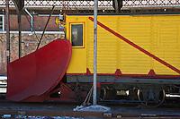Europe/France/Languedoc-Roussillon/66/Pyrénées-Orientales/Conflent/Villefranche-de-Conflent: La gare d'ou part  le Train jaune de Cerdagne - détail Chasse-Neige