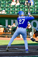 DJ Peters (27) of the Ogden Raptors at bat against the Missoula Osprey in Pioneer League action at Lindquist Field on July 14, 2016 in Ogden, Utah. Ogden defeated Missoula 10-4. (Stephen Smith/Four Seam Images)