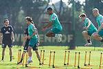 15.09.2020, Trainingsgelaende am wohninvest WESERSTADION - Platz 12, Bremen, GER, 1.FBL, Werder Bremen Training<br /> <br /> Aufwaermtraining / Dehnuebung / Springuebung<br /> <br /> Simon Straudi (Werder Bremen #26)<br /> Felix Agu (Werder Bremen / Neuzugang 17)<br /> Romano Schmid (Werder Bremen 20)<br /> <br /> Foto © nordphoto / Kokenge