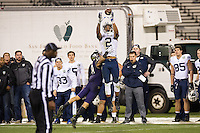 SAN FRANCISCO, CA - December 27, 2013: BYU Cougars wide receiver Cody Hoffman (2) during the 2013 Kraft Fight Hunger Bowl where the Washington Huskies and the BYU Cougars at AT&T Park in San Francisco, California. Final score Washington Huskies 31, BYU Cougars 16.